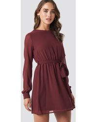 NA-KD Chiffon Dress - Rot