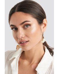 Mango Flax Earrings - Metallic