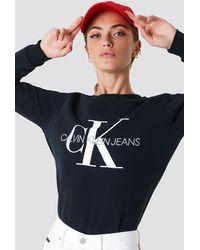 Calvin Klein Sweatshirt Met Logo - Zwart