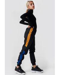 NA-KD Side Stripe Tracksuit Pants Black