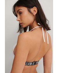 Calvin Klein Triangel-Bikini-Oberteil - Weiß