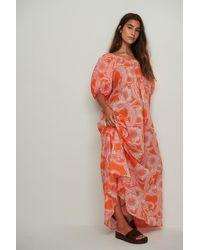 Mango Dress Anita - Oranje