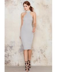Passion Fusion Round Neck Cotton Dress - Gray