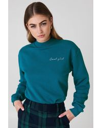 NA-KD - Cool Girl Sweatshirt Petrol - Lyst