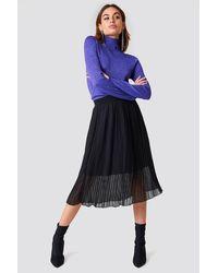 NA-KD Pleated Midi Skirt - Zwart