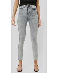 NA-KD Jeans Met Hoge Taille - Blauw