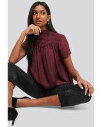 NA-KD - Smock Chest Top - Lyst