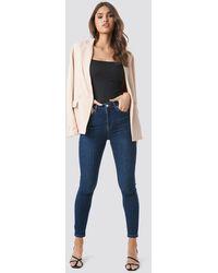 NA-KD Skinny High Waist Jeans - Blauw