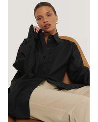 NA-KD Classic Oversized Shirt - Zwart