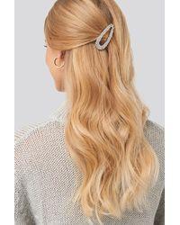NA-KD Rough Surface Hair Clip - Metallic