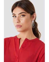 NA-KD - Top Sparkle Hoop Earring - Lyst