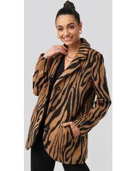 NA-KD - Trend Printed Tiger Coat - Lyst