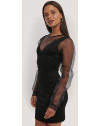 NA-KD - Long Sleeve Organza Dress - Lyst