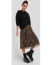 NA-KD Multicolor Pleated Midi Skirt