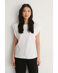 Trendyol - White Sleeveless Tee - Lyst