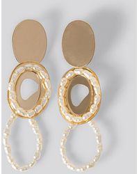 Mango Irina Earrings - Metallic