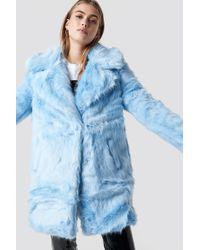 Glamorous Fluffy Coat Light Blue