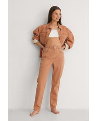 NA-KD Reborn Organisch Gekleurde Mom Jeans - Oranje