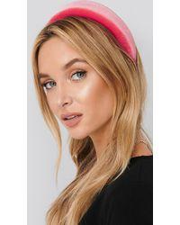 NA-KD Puff Velvet Hairband - Roze