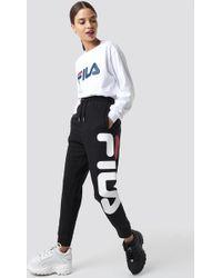 Fila - Classic Pure Trousers Black - Lyst