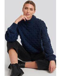 Rut&Circle Liza Jacquard Knit - Blauw
