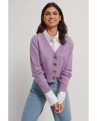 Trendyol Purple Watermelon Knit Cardigan