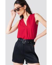 Trendyol - V-neck Blouse Red - Lyst