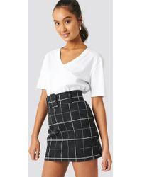 097681c6fd99 Lyst - Alice + Olivia 'kimbra' Checkered Drop Waist Plaid Skirt in Black