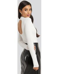 NA-KD - Party Open Back Ribbed Body - Lyst