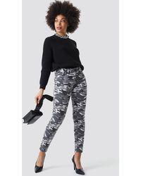 NA-KD Camo Skinny Jeans - Multicolore