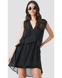 NA-KD - Black Short Chiffon Dress - Lyst