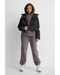 NA-KD Black Puffer Jacket