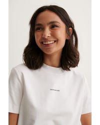 Calvin Klein T-Shirt-Kleid - Weiß