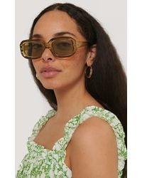 NA-KD Brown Transparent Retro Squared Sunglasses