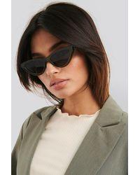 NA-KD Long Edge Cateye Sunglasses Green