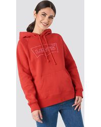Levi's Graphic Sport Hsmk Outline Hoodie - Rood