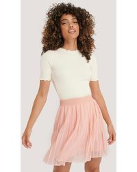 NA-KD Pink Mini Pleated Skirt