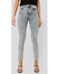 NA-KD Jeans Mit Hoher Taille - Blau