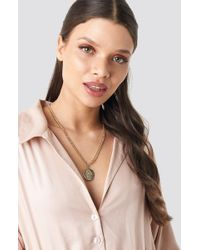 NA-KD - Hamsa Hand Necklace Gold - Lyst