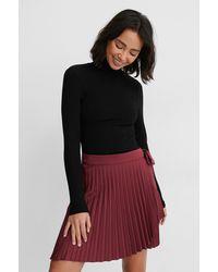 NA-KD Wrap Pleated Mini Skirt - Multicolore
