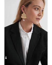 NA-KD Pearl Detailed Plate Earrings - Multicolore