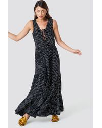 Trendyol - Dotted Maxi Dress Multicolor - Lyst