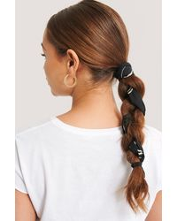NA-KD Ink Print Slim Hair Scarf (065) - Zwart