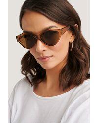 NA-KD Drop Shaped Cateye Sunglasses - Marron