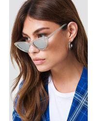 NA-KD - Glittery Cat Eye Sunglasses - Lyst