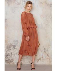 NA-KD Copper Lace Top Part Maxi Dress - Multicolour