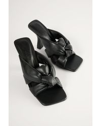 Mango Black Bossy Sandals