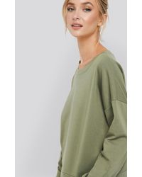 NA-KD Basic Basic Wide Sweater - Grün