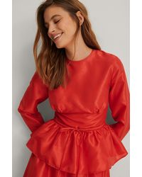 NA-KD Trend Blouse - Rood