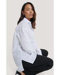 NA-KD Oversized Shirt - Wit